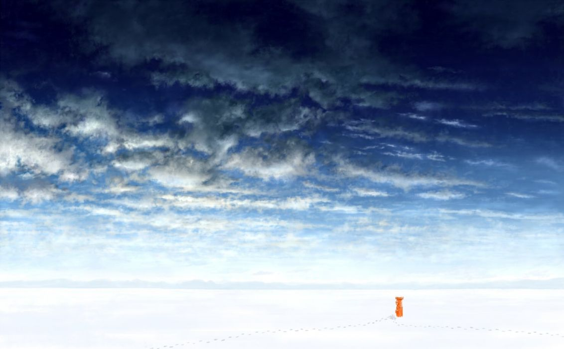 clouds landscape mks nobody original scenic sky snow wallpaper