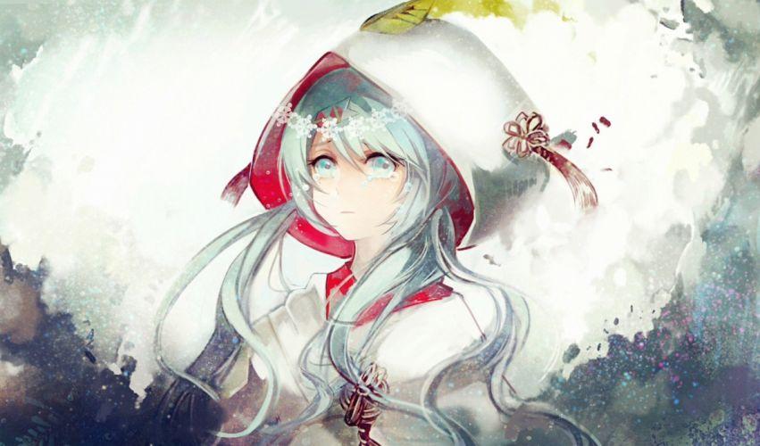 crying hatsune miku tears vima vocaloid yuki miku wallpaper
