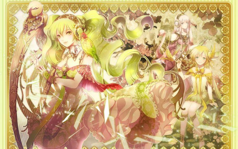 Luka Megurine Vocaloid Kagamine Rin Anime Girls wallpaper