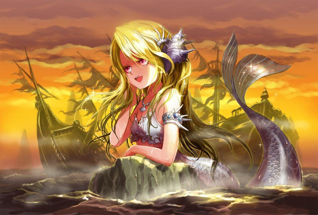 Mermaid Ume ( Illegal Bible ) original Anime Girls wallpaper