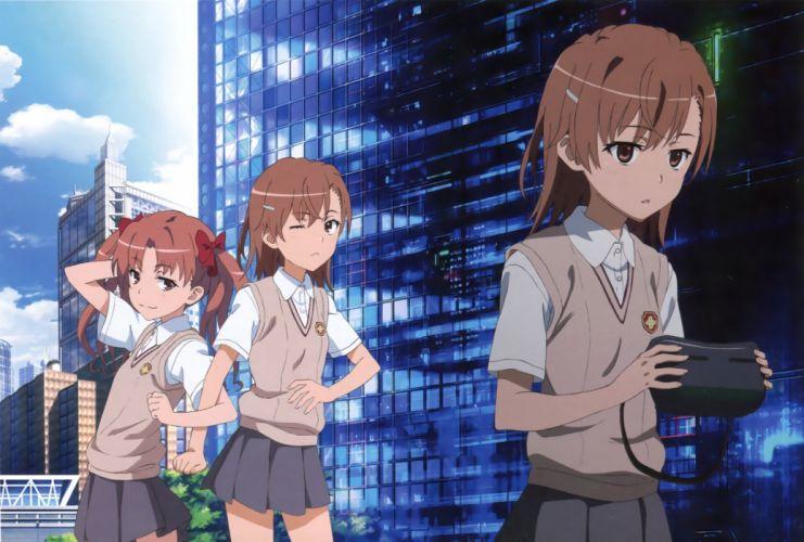 misaka mikoto shirai kuroko to aru kagaku no railgun to aru majutsu no index wallpaper