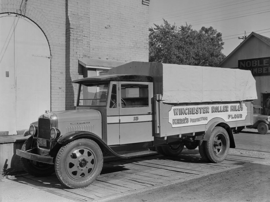 1931 GMC T-18 Woolcott Convertible retro semi tractor    f wallpaper