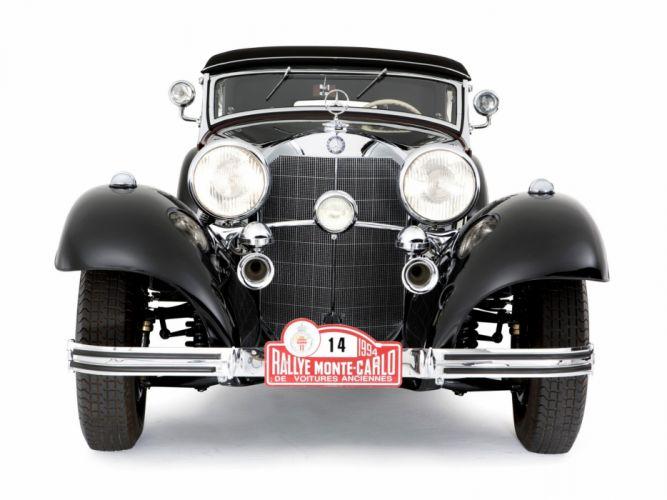 1936 Mercedes Benz 540K Sport Cabriolet A retro luxury tu wallpaper