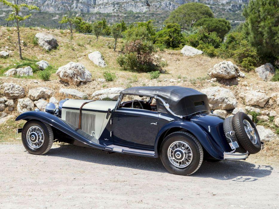 1936 Mercedes Benz 540K Sport Cabriolet A retro luxury   t wallpaper