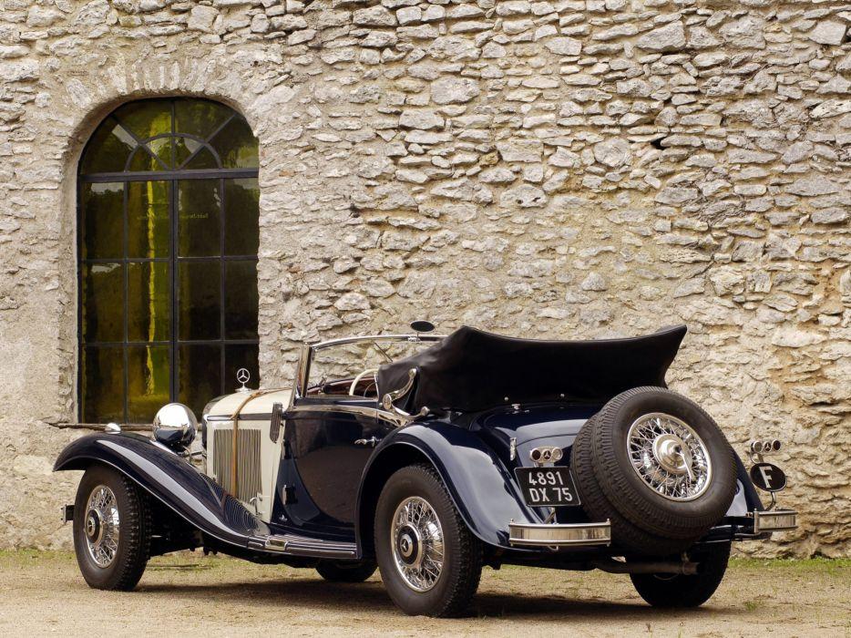 1936 Mercedes Benz 540K Sport Cabriolet A retro luxury  eq wallpaper