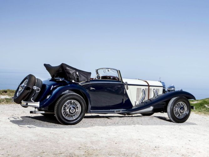 1936 Mercedes Benz 540K Sport Cabriolet A retro luxury e wallpaper
