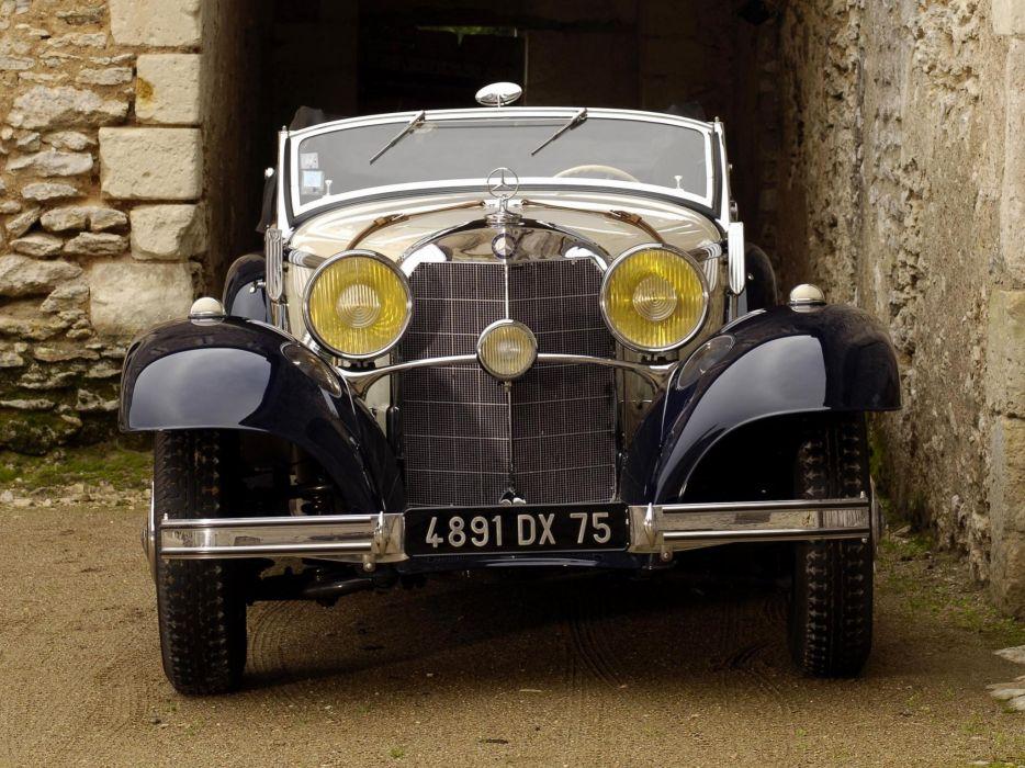 1936 Mercedes Benz 540K Sport Cabriolet A retro luxury  y wallpaper