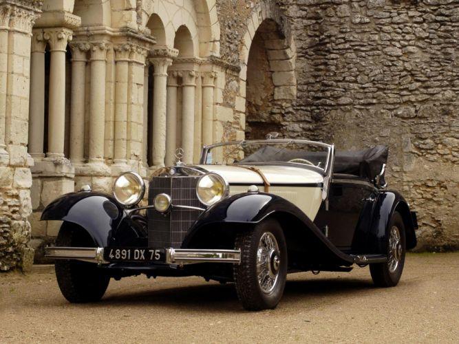 1936 Mercedes Benz 540K Sport Cabriolet A retro luxury e wallpaper