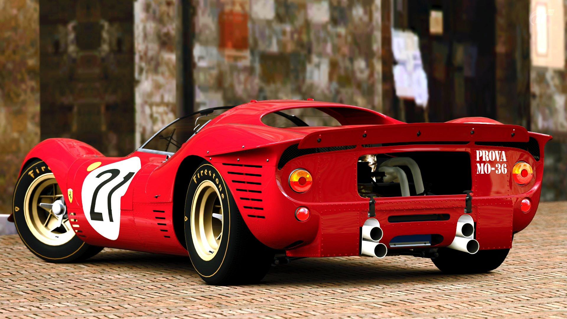 1967 Ferrari 412p Race Racing Classic E Wallpaper