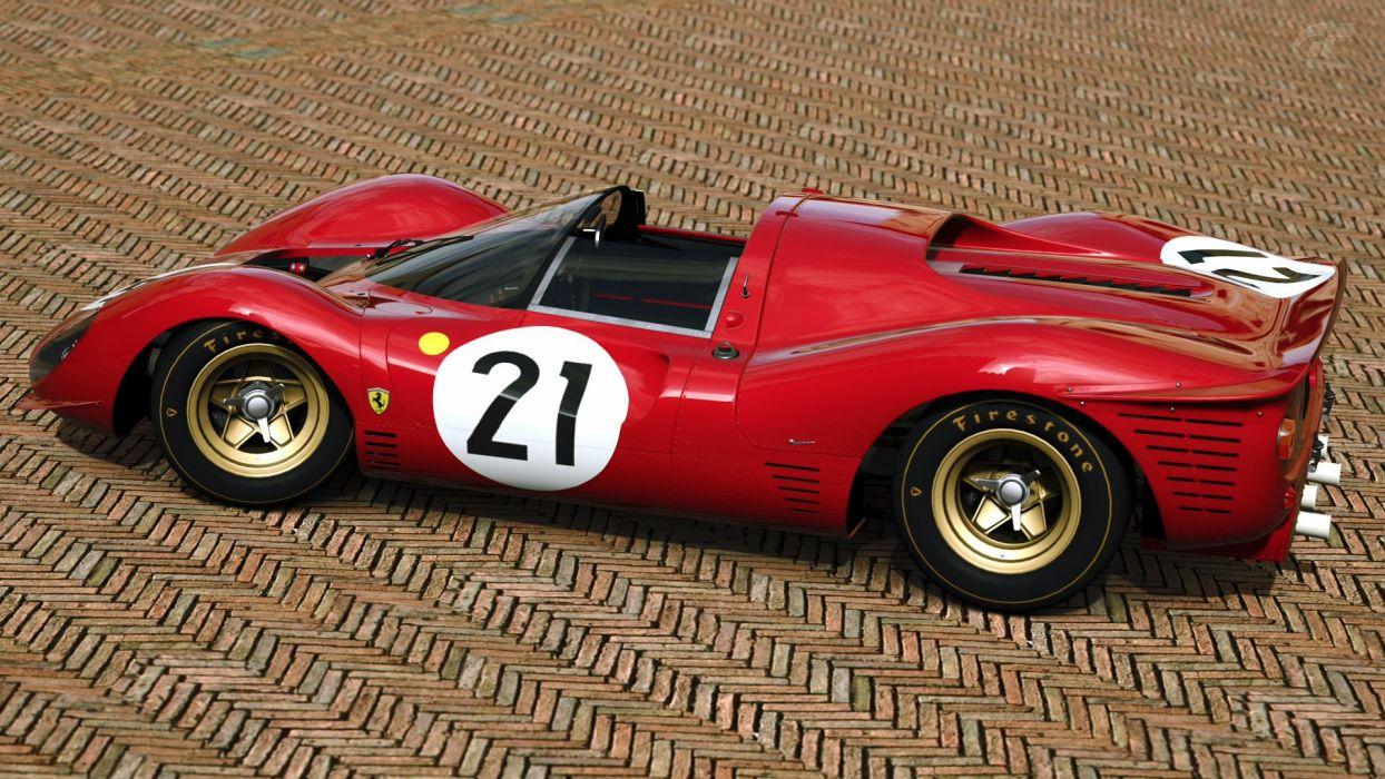 1967 Ferrari 412P race racing classic  r wallpaper