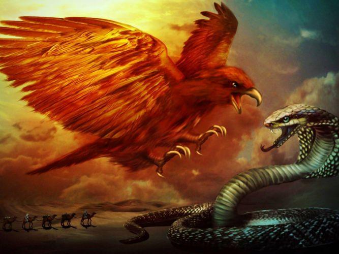 Eagle and Cobra wallpaper