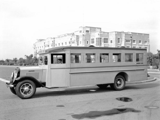 1935 International C-30 School Bus transport retro gh wallpaper