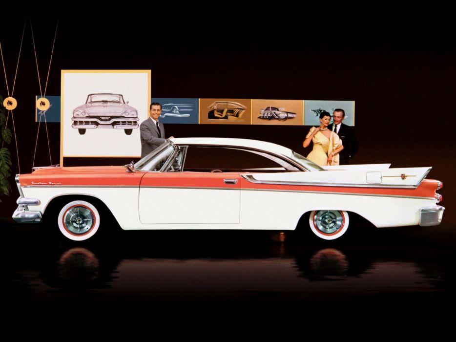 1957 Dodge Custom Royal Lancer Hardtop Coupe (D67-2) retro     g wallpaper