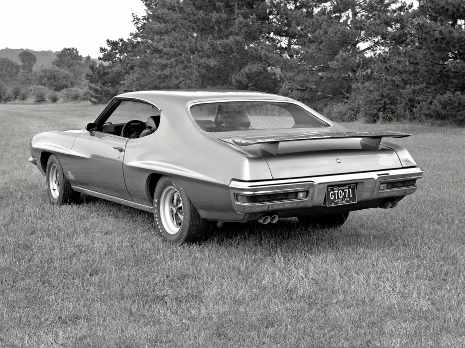 1971 Pontiac GTO Judge Hardtop Coupe muscle classic     f wallpaper