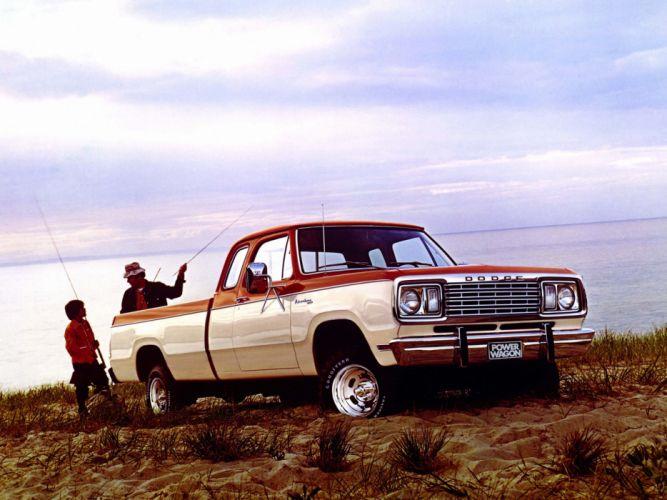 1977 Dodge W100 Power Wagon Club Cab Sweptline Adventurer pickup 4x4 f wallpaper