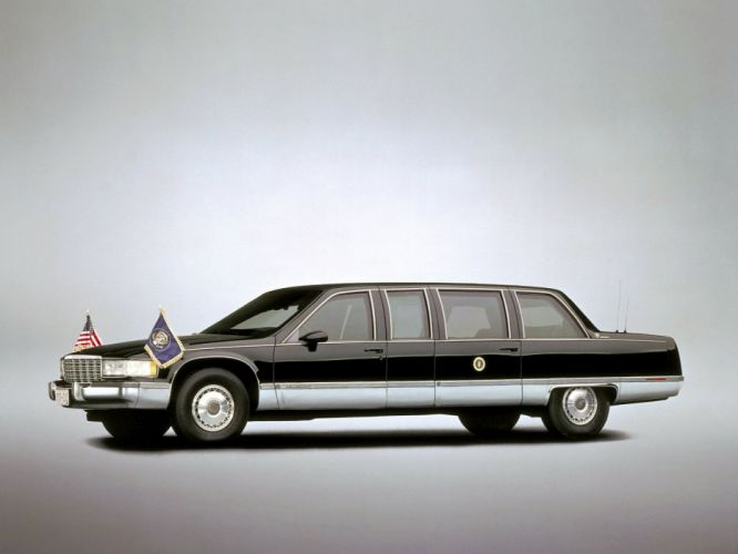 1993 Cadillac Fleetwood Brougham Presidential limosuine armored luxury d wallpaper