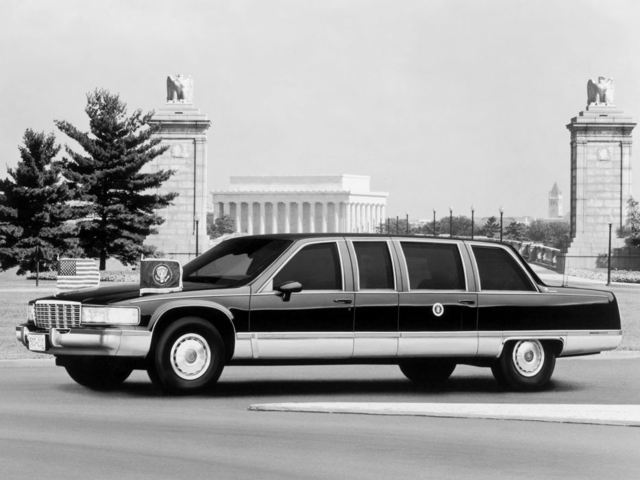 1993 Cadillac Fleetwood Brougham Presidential limosuine armored luxury w wallpaper