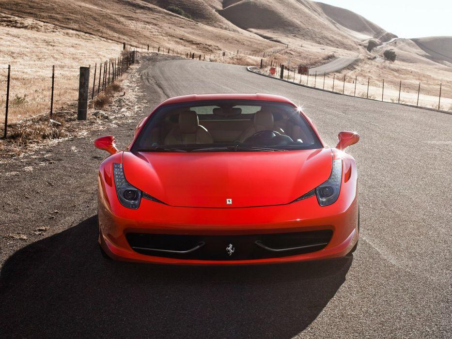 2009 Ferrari 458 Italia US-spec supercar  fs wallpaper