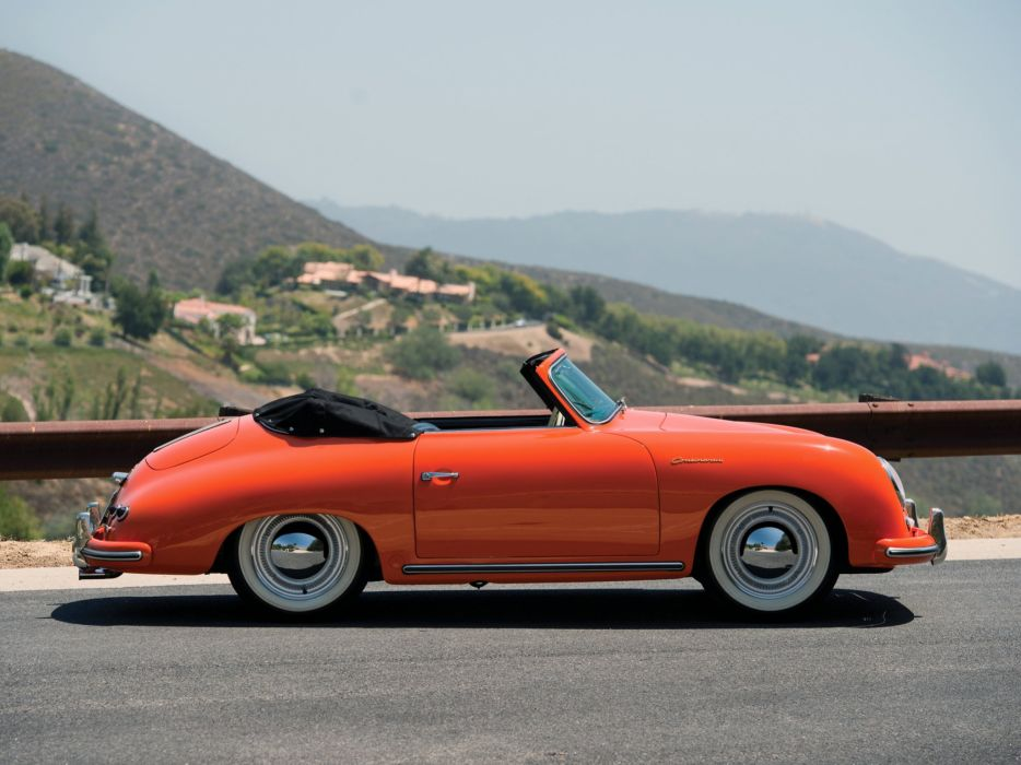 1955 Porsche 356 1500 Continental Cabriolet retro  e wallpaper