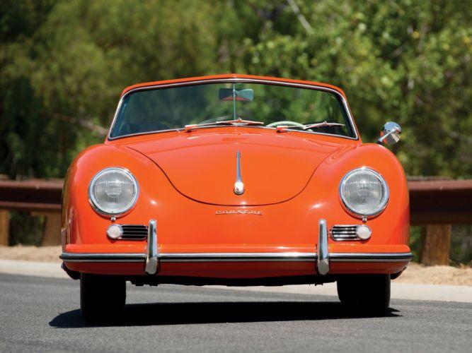 1955 Porsche 356 1500 Continental Cabriolet retro w wallpaper
