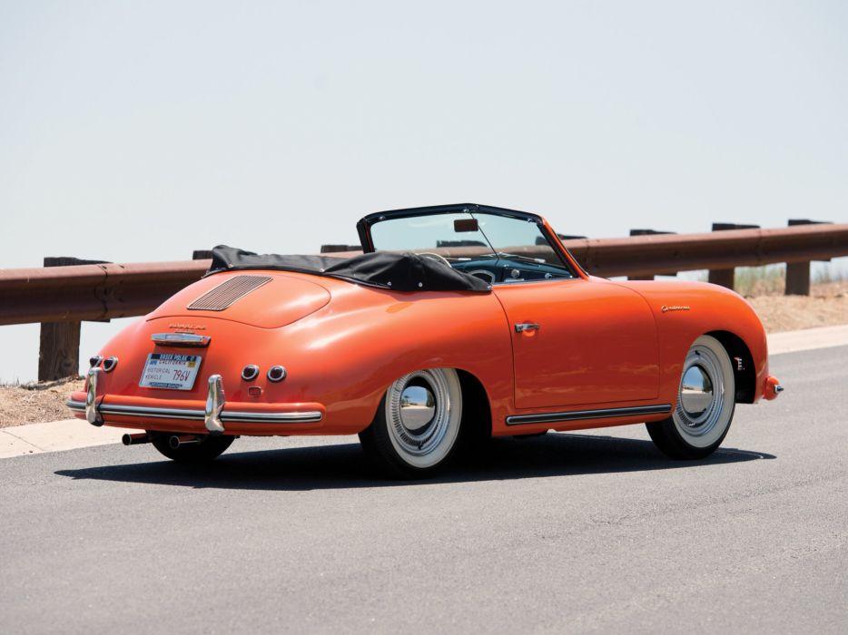 1955 Porsche 356 1500 Continental Cabriolet retro   d wallpaper