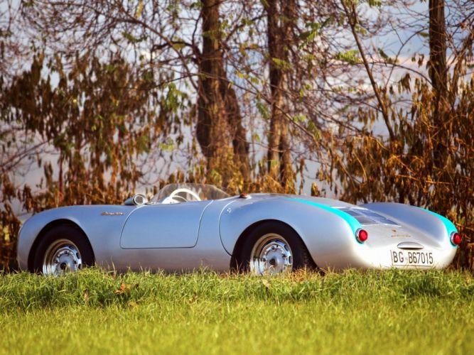 1956 Porsche 550 Spyder retro supercar retro e wallpaper