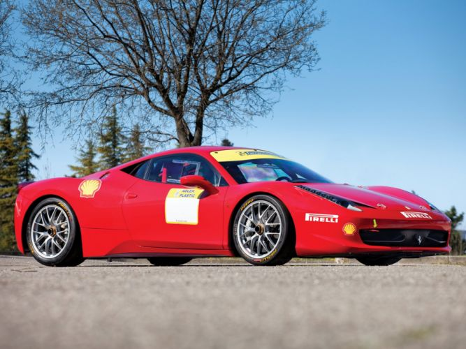 2010-13 Ferrari 458 Italia Challenge supercar race racing d wallpaper