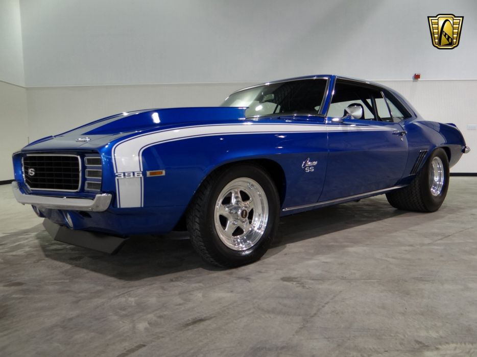 1969 Chevrolet Camaro R-S S-S hot rod rods classic muscle (11) wallpaper