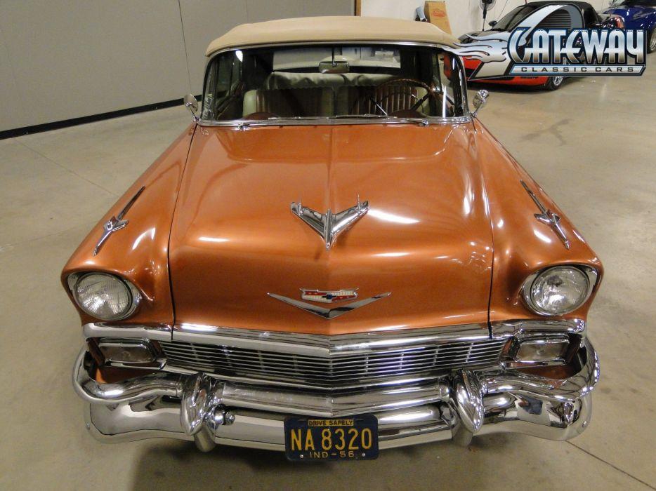 1956 Chevrolet Bel Air Convertible retro (17) wallpaper