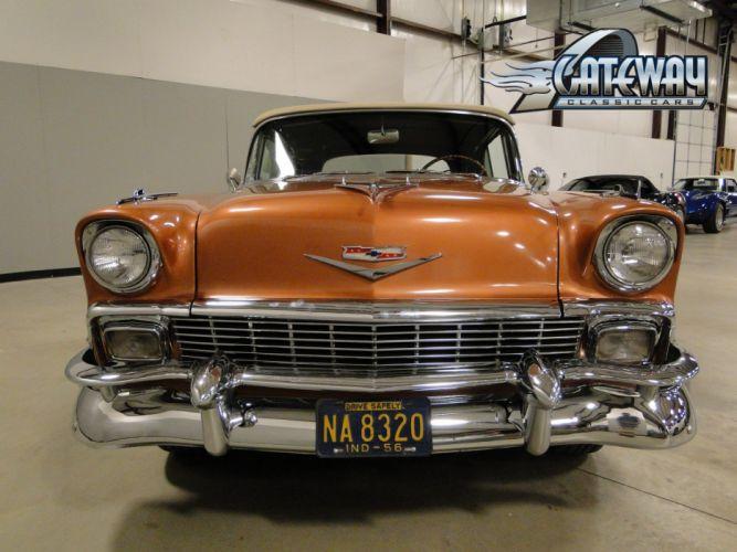 1956 Chevrolet Bel Air Convertible retro (19) wallpaper