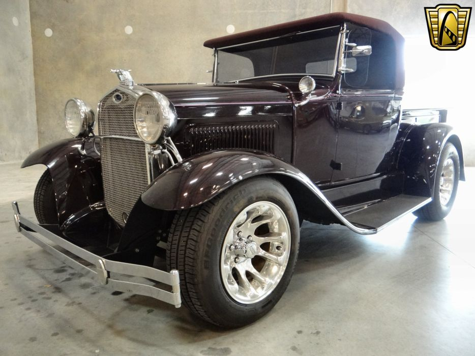 1930 Ford Model-A Roadster Pickup hot rod rods retro (10) wallpaper