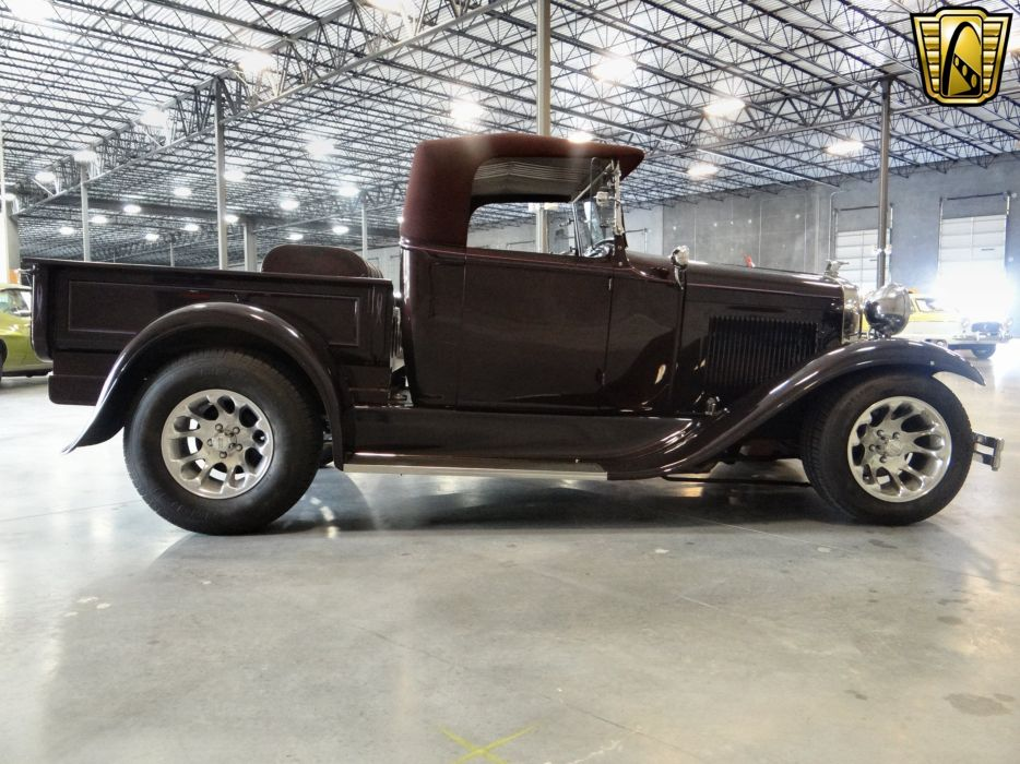1930 Ford Model-A Roadster Pickup hot rod rods retro (16) wallpaper
