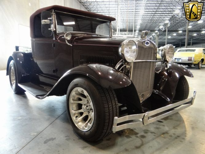 1930 Ford Model-A Roadster Pickup hot rod rods retro (17) wallpaper