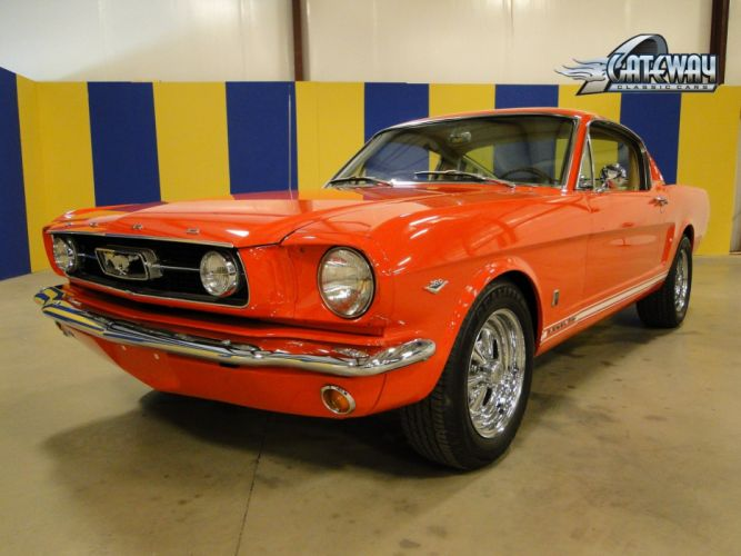 1966 Ford Mustang Fastback muscle classic hot rod rods (14) wallpaper