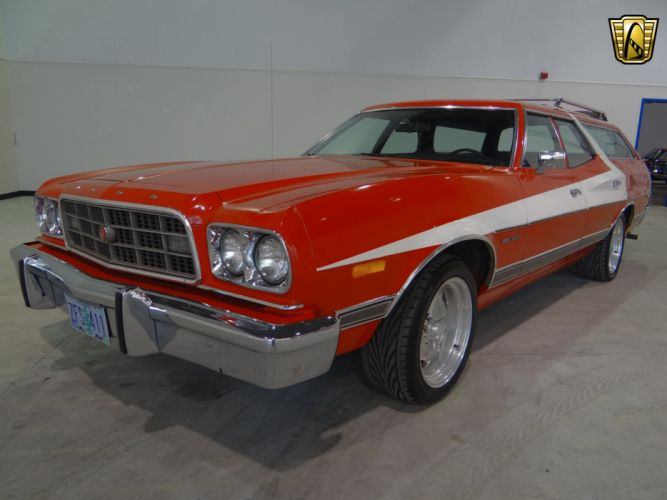 1973 Ford Gran Torino stationwagon muscle classic hot rod rods (11) wallpaper
