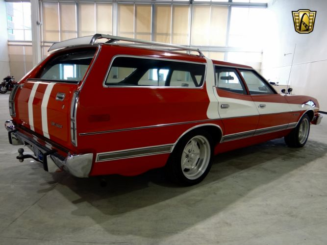 1973 Ford Gran Torino stationwagon muscle classic hot rod rods (18) wallpaper