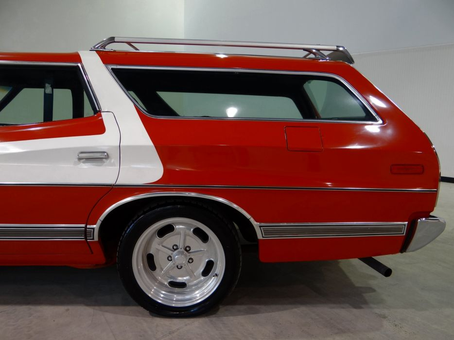 1973 Ford Gran Torino stationwagon muscle classic hot rod rods (25) wallpaper