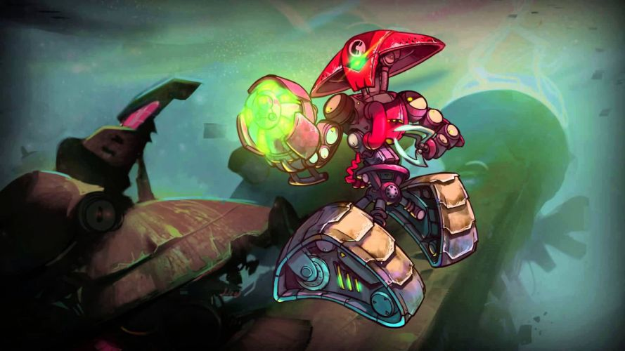 AWESOMENAUTS ASSEMBLE action strategy platform 2D-MOBA online mmo (5) wallpaper