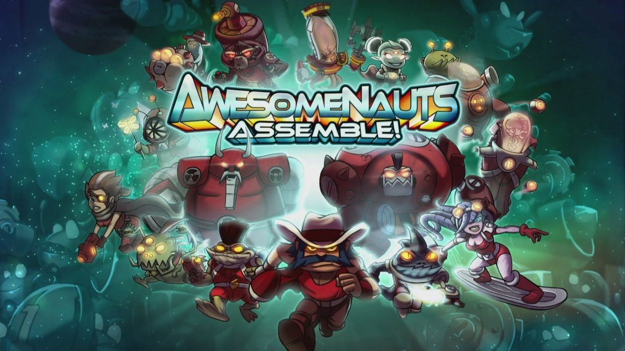 AWESOMENAUTS ASSEMBLE action strategy platform 2D-MOBA online mmo (6) wallpaper