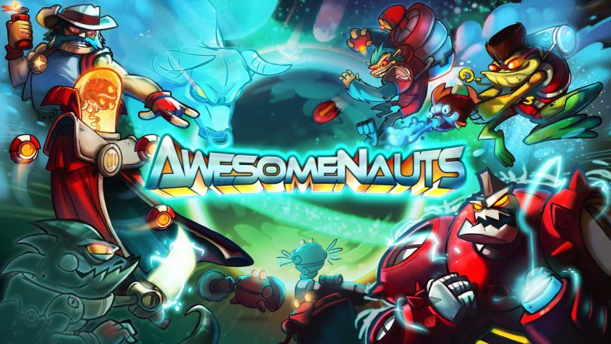 AWESOMENAUTS ASSEMBLE action strategy platform 2D-MOBA online mmo (8) wallpaper