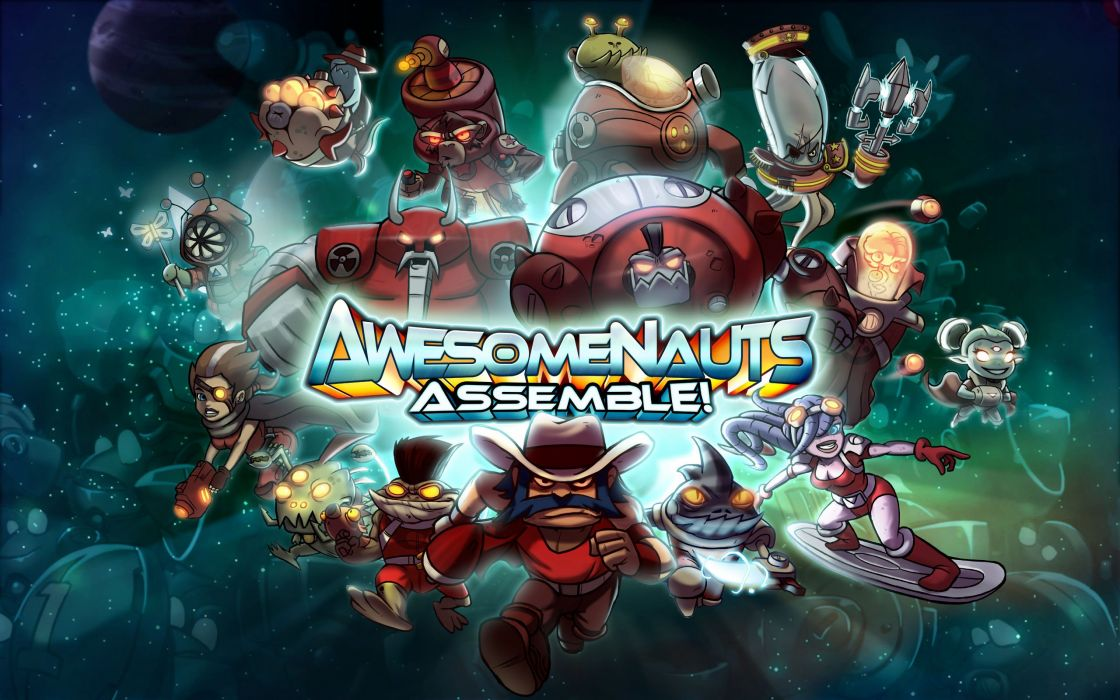 AWESOMENAUTS ASSEMBLE action strategy platform 2D-MOBA online mmo (9) wallpaper