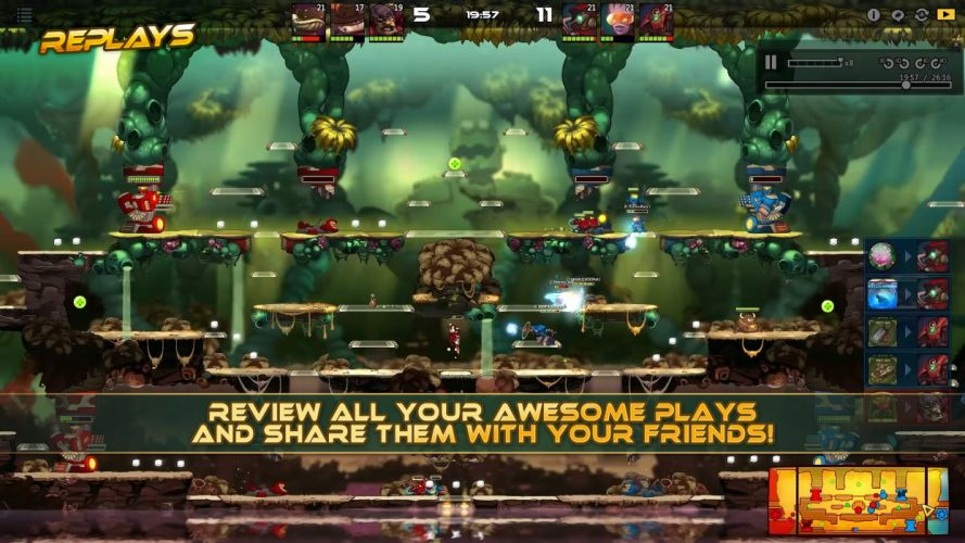 AWESOMENAUTS ASSEMBLE action strategy platform 2D-MOBA online mmo (10) wallpaper