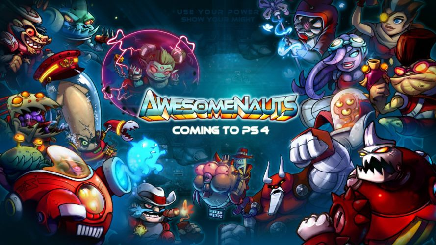 AWESOMENAUTS ASSEMBLE action strategy platform 2D-MOBA online mmo (20) wallpaper