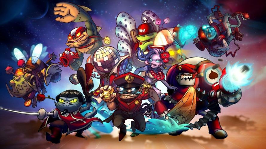 AWESOMENAUTS ASSEMBLE action strategy platform 2D-MOBA online mmo (27) wallpaper