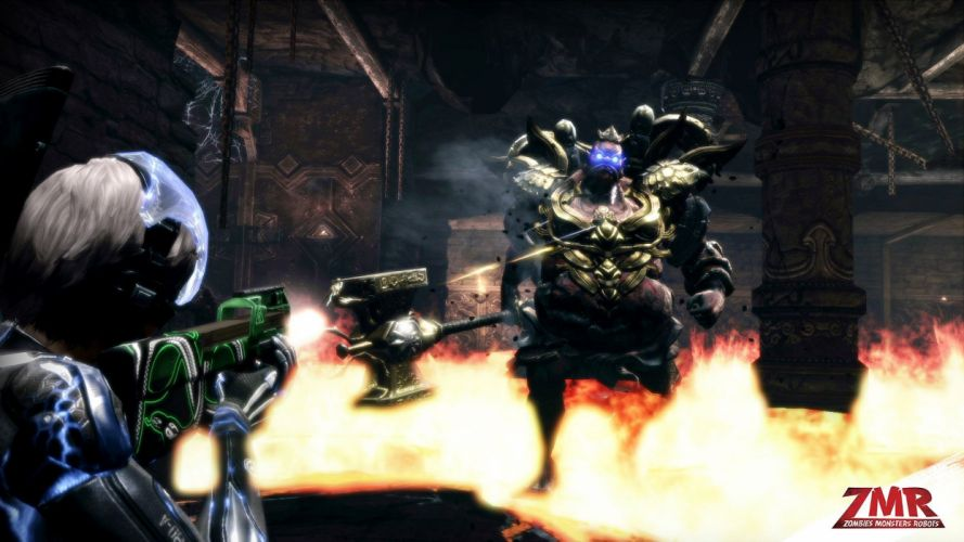 ZOMBIES MONSTERS ROBOTS shooter action sci-fi zmr fighting horror (17) wallpaper