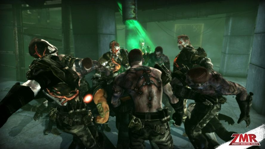 ZOMBIES MONSTERS ROBOTS shooter action sci-fi zmr fighting horror (20) wallpaper