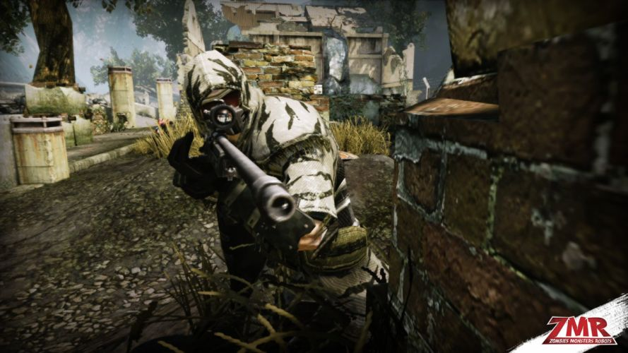 ZOMBIES MONSTERS ROBOTS shooter action sci-fi zmr fighting horror (22) wallpaper