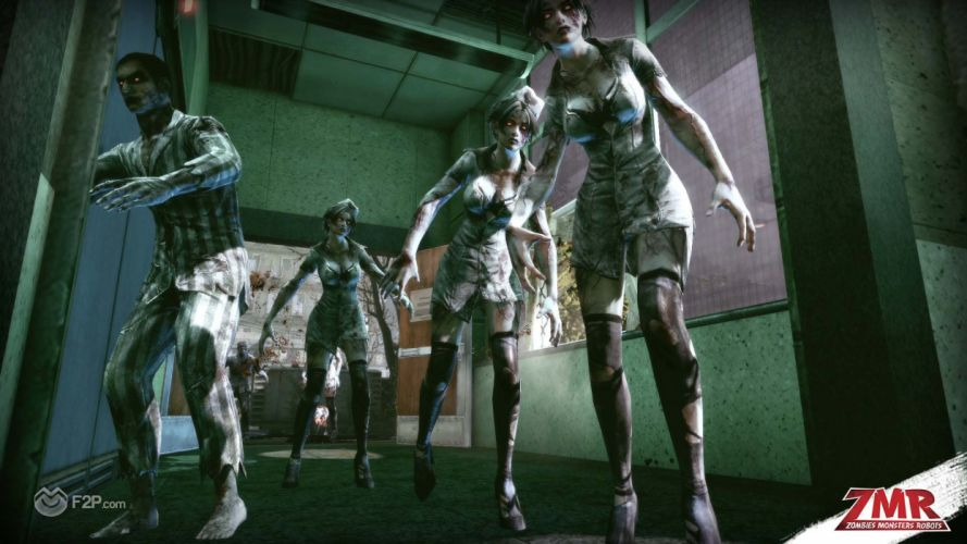 ZOMBIES MONSTERS ROBOTS shooter action sci-fi zmr fighting horror (25) wallpaper