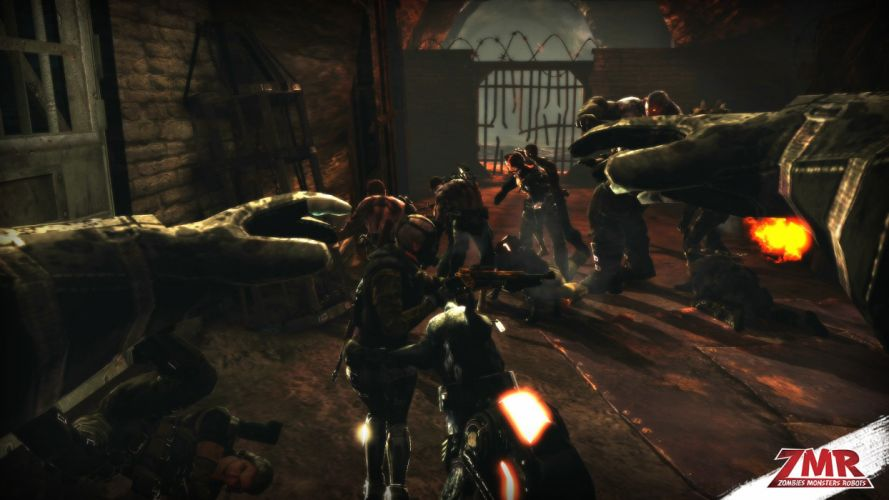 ZOMBIES MONSTERS ROBOTS shooter action sci-fi zmr fighting horror (29) wallpaper