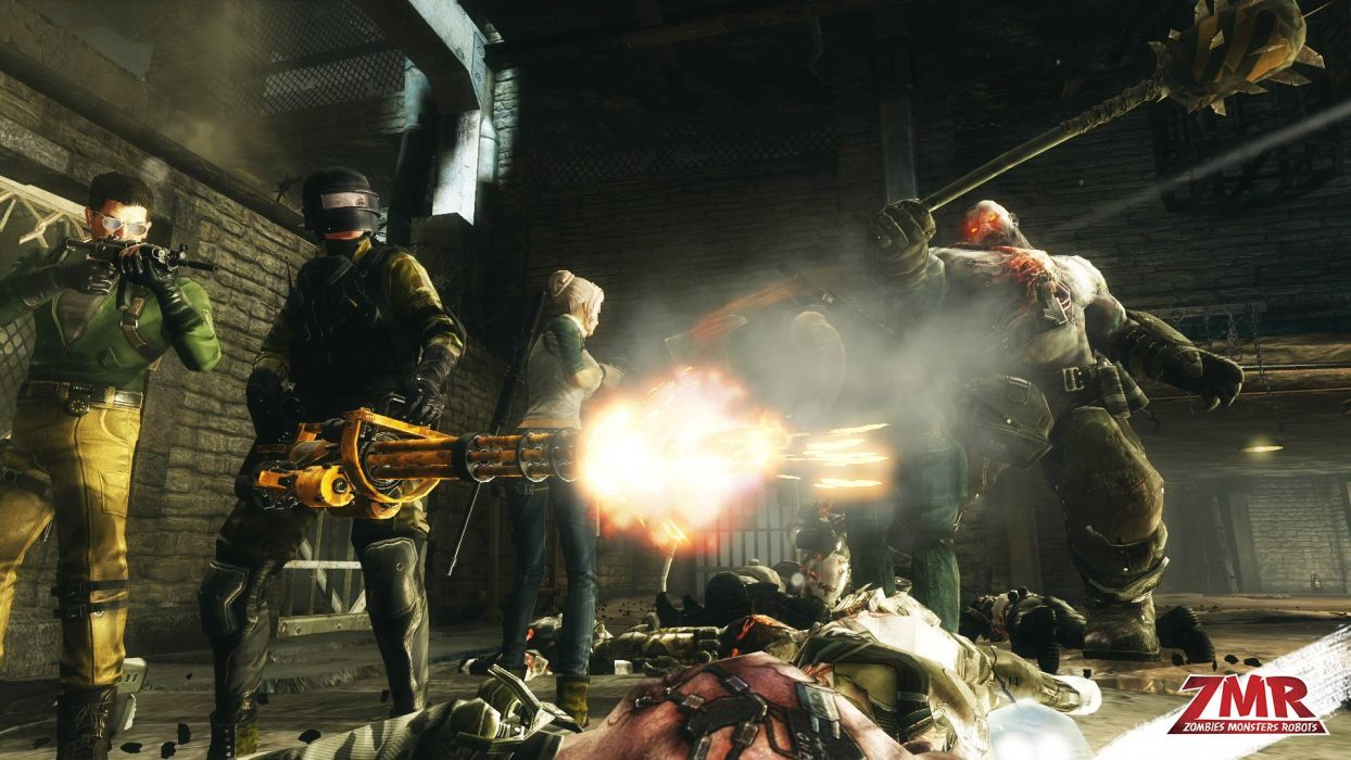 ZOMBIES MONSTERS ROBOTS shooter action sci-fi zmr fighting horror (37) wallpaper
